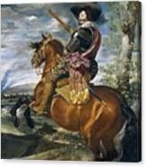 Gaspar De Guzmn Conde-duque De Olivares A Caballo Diego Rodriguez De Silva Y Velazquez Canvas Print