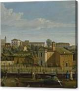 Gaspar Van Wittel  Called Vanvitelli Amersfoort 1652    1736   Rome  A View Of The Church Of Santi M Canvas Print