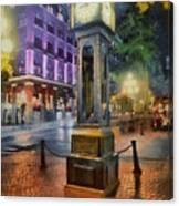 Gastown Sreamclock 1 Canvas Print