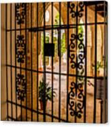 Gate - Alcazar Of Seville - Seville Spain Canvas Print