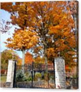 Gate And Driveway Canvas Print