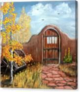 Gate By The San Juan Canvas Print