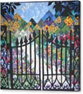 Gate Into The Garden Canvas Print