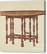 Gate Leg Table Canvas Print