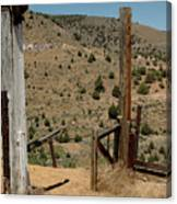 Gate Out Of Virginia City Nv Cemetery Canvas Print