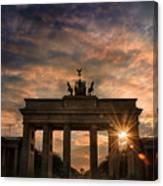 Gate Sunset Canvas Print