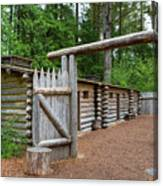 Gate To Log Camp At Fort Clatsop Canvas Print