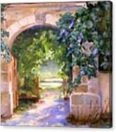 Gate To The Chateau Canvas Print