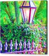 Gate With Lantern Canvas Print