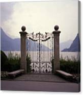 Gates At Lake Lugano Canvas Print