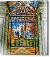 Gates To Knowledge Princeton University Canvas Print