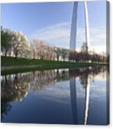 Gateway Arch And Reflection Canvas Print