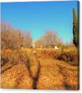 Gateway To A No Trespassing Farm Canvas Print