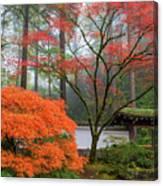 Gateway To Portland Japanese Garden Canvas Print