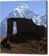 Mt Veronica And Inti Punku Sun Gate Canvas Print