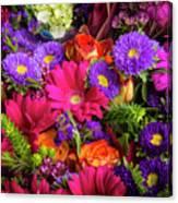 Gathered Garden Flowers Canvas Print