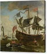 Gathering Of English Ships Canvas Print