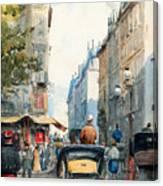 Gatubild Paris Canvas Print