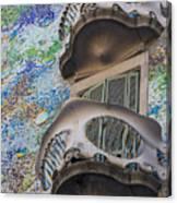 Gaudi Balcony Canvas Print