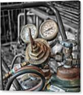 Gauges And Tanks For Cutting Torches Canvas Print