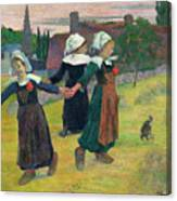 Gauguin, Breton Girls, 1888 Canvas Print