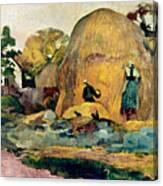 Gauguin: Haystacks, 1889 Canvas Print