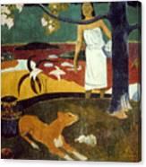 Gauguin: Pastoral, 19th C Canvas Print