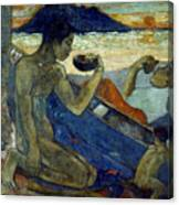 Gauguin: Pirogue, 19th C Canvas Print