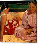 Gauguin: Tahiti Women, 1891 Canvas Print