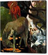 Gauguin: White Horse, 1898 Canvas Print