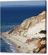 Gay Head Cliffs And Beach Canvas Print