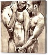 Gay Love watercolor Canvas Print