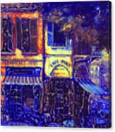 Gay Paree In Blue Canvas Print
