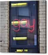 Gay Sign Canvas Print