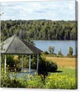 Gazebo And Caribou Lake Canvas Print