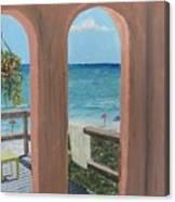 Gazebo At Blue Mountain Beach Canvas Print