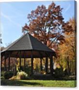 Gazebo At North Ridgeville - Autumn Canvas Print