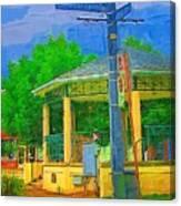 Gazebo In Chippewa Canvas Print