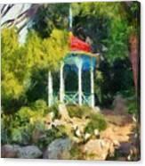 Gazebo In The Nikitsky Botanical Garden Canvas Print