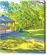 Gazebo On Onion Creek Canvas Print