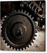 Gear And Screw Sepia 2 Canvas Print