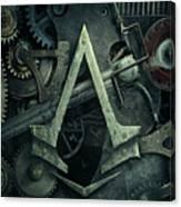 Gear Head Steampunk  Canvas Print