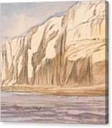 Gebel Abu Fodde By Edward Lear  1867 Canvas Print