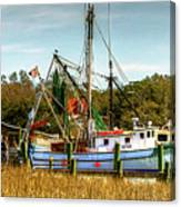 Geechie Seafood Shrimp Boats Canvas Print