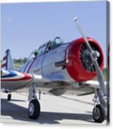 Geico Skytypers Snj-2 World War II-era Planes Canvas Print