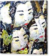 Geisha Girls Canvas Print