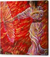 Geisha - Rain Dance 02 Canvas Print