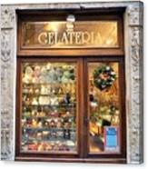 Gelateria In Assisi Canvas Print