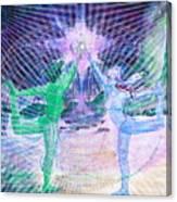 Gemini Moon Mandala Canvas Print