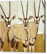 Gemsboks Or 0ryxs Triptych Canvas Print